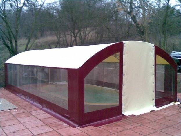 Зимний тент на бассейн