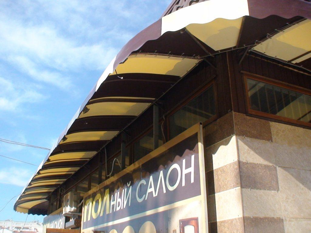 Козырек ПВХ для салона дверей (ул.Юмашева, Севастополь)