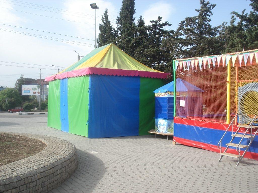 Тентовых павильон детской игровой площадки, ул.Меньшикова, Севастополь